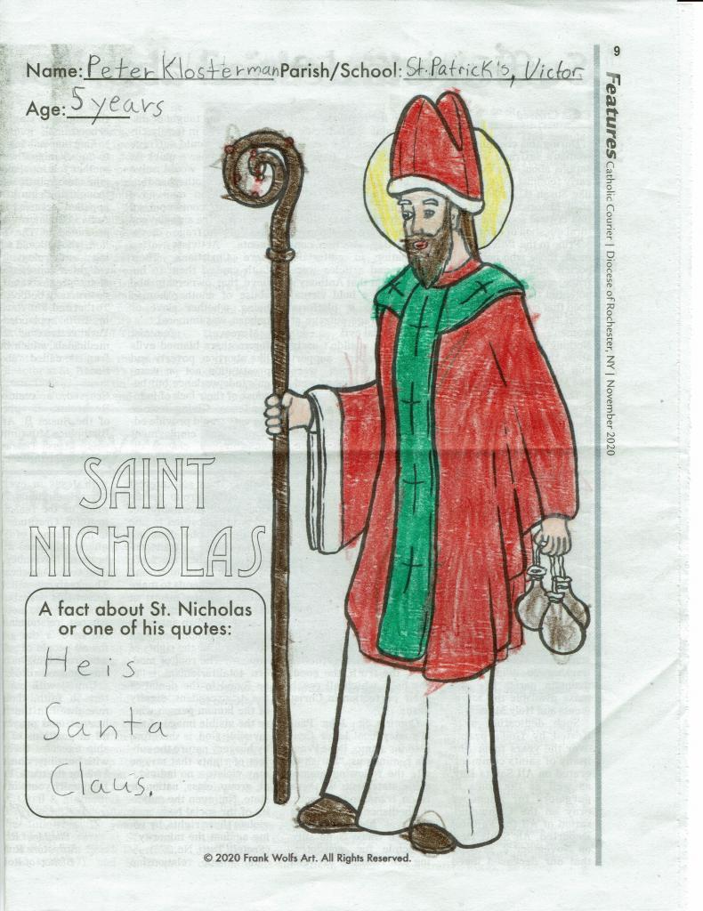 Peter, 5, St. Patrick Church, Victor