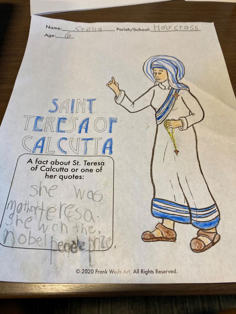 Stella, 6, Holy Cross School, Rochester