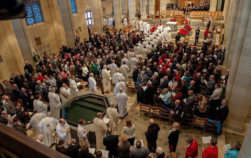 Clergy, friends, family, local public officials and well-wishers filled Sacred Heart Cathedral.
