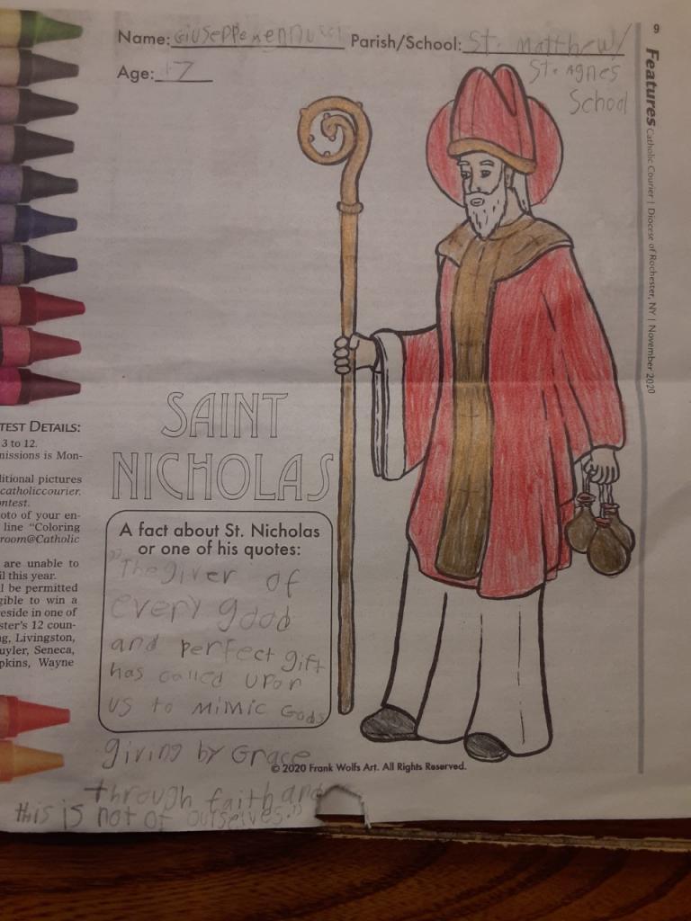 Giuseppe, 7, St. Agnes School, Avon/Sts. Mary & Matthew Faith Community, Livonia/Honeoye