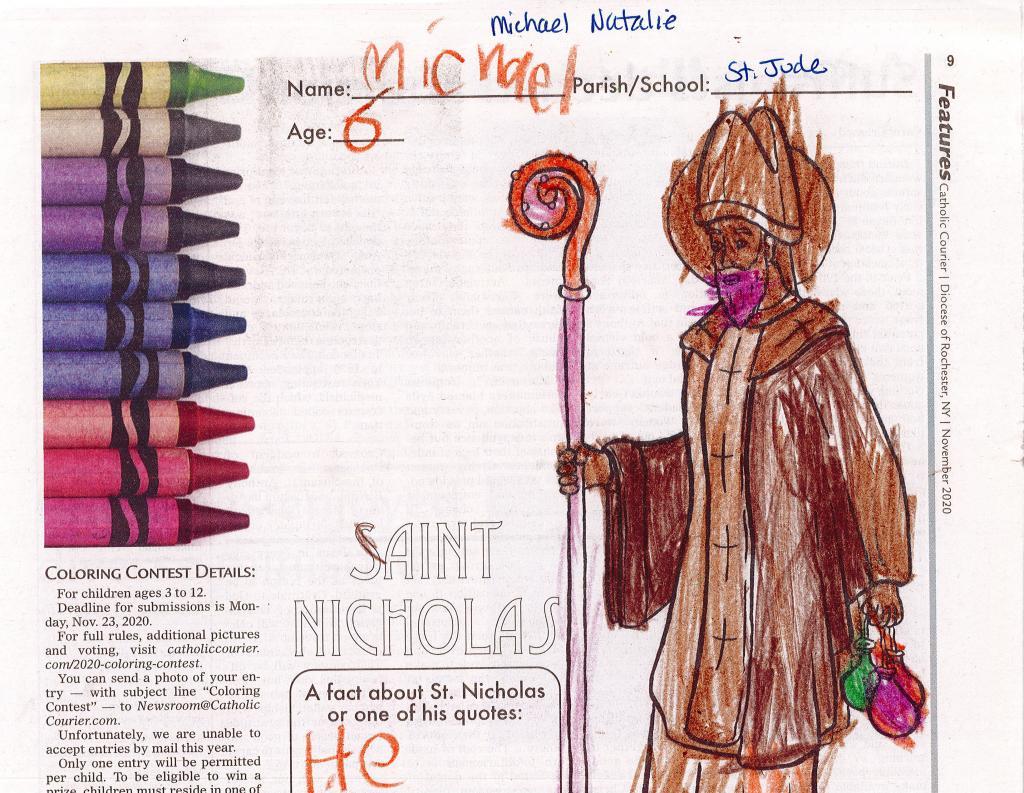 Michael Natalie, 6, Parish of the Holy Family, Gates
