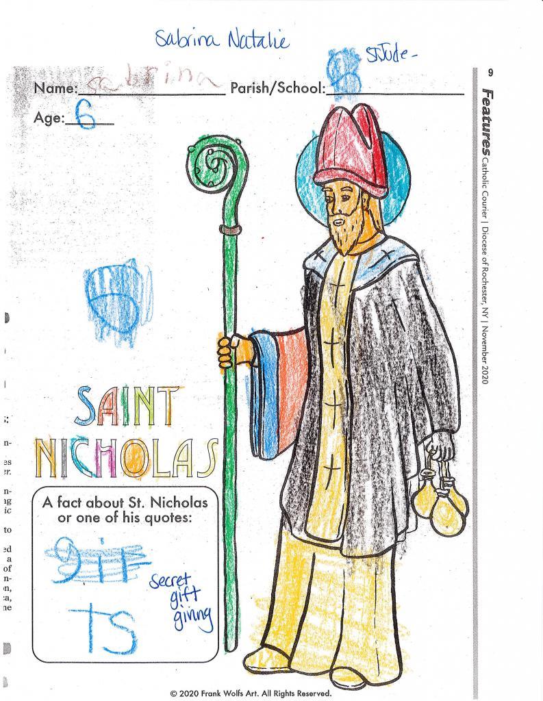 Sabrina Natalie, 6, Parish of the Holy Family, Gates