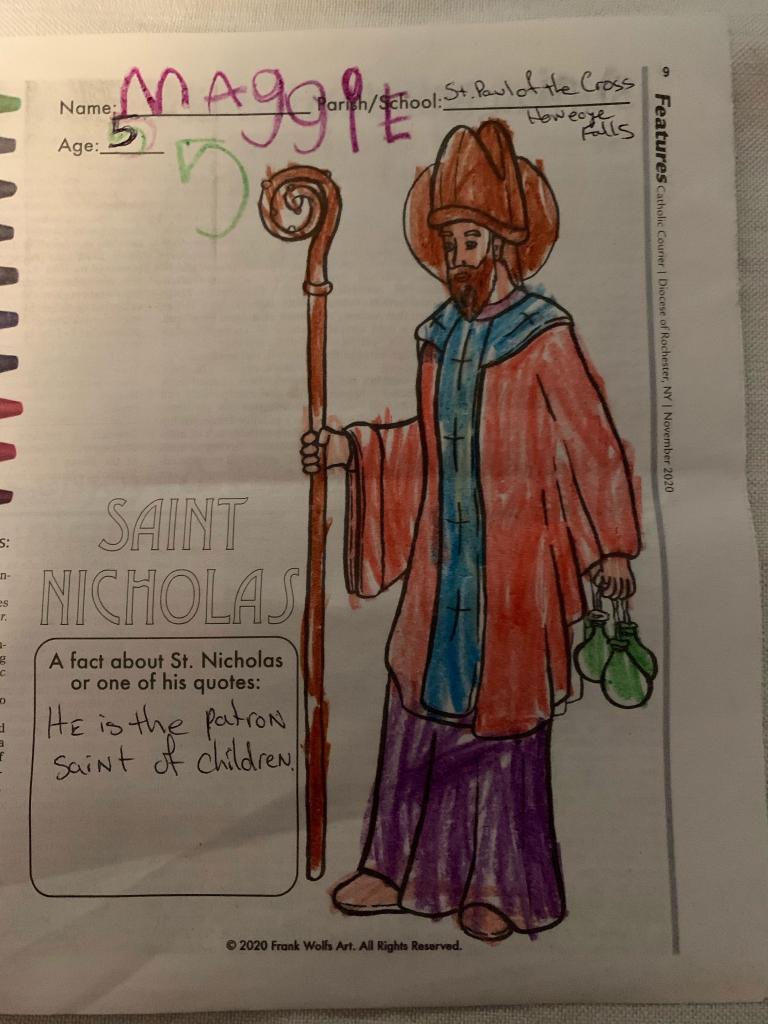 Maggie N., 5, St. Paul of the Cross, Honeoye Falls