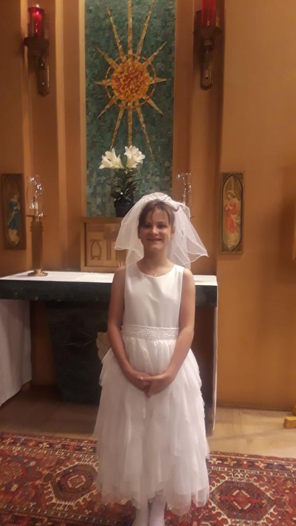 Natalie received her First Holy Communion at St. Boniface Church. (Submitted by Nancy)