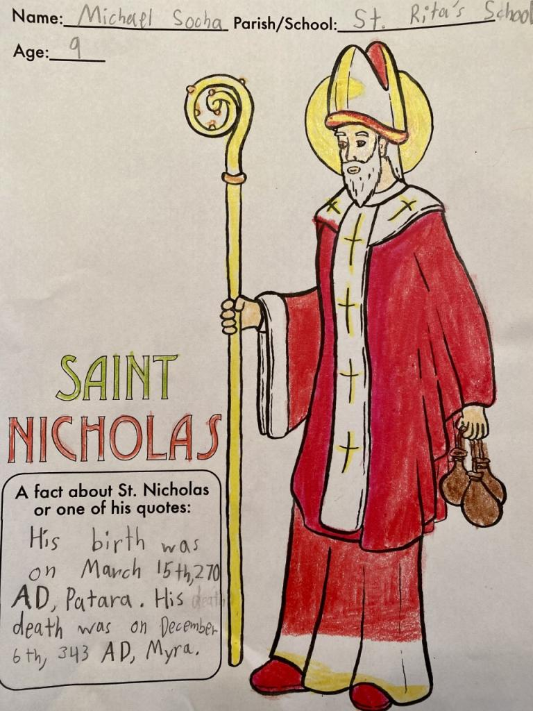 Michael, 9, St. Rita School, Webster