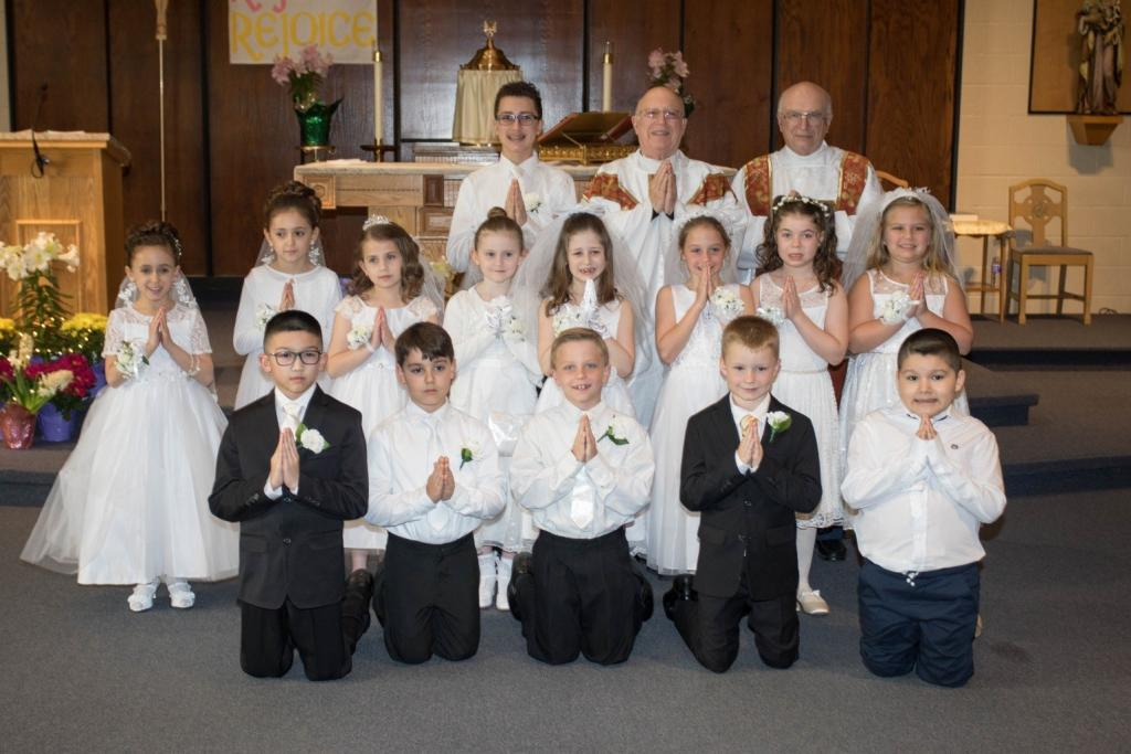 St. Leo Church First Communion Class. (Submitted by Sharon Prince)