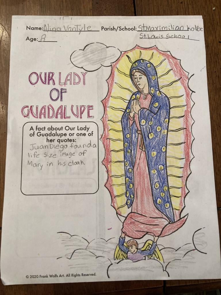 Alina, 8, St. Louis School, Pittsford/St. Maximilian Kolbe Parish,Ontario