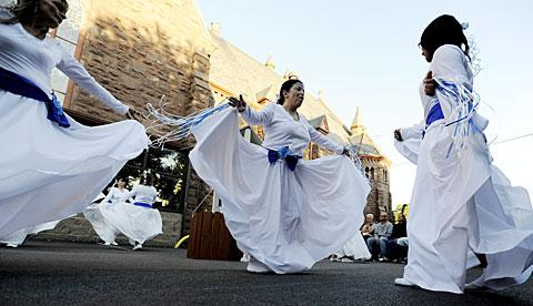 Holy Apostles liturgical dancers perform Aug. 11.