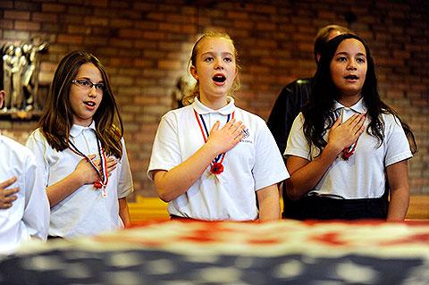 Julia Leahy, Kailey Evanoswky & Gabrielle Heisig.