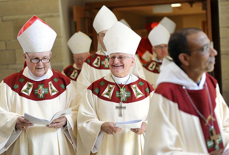 Nine bishops and two cardinals attended the Mass.