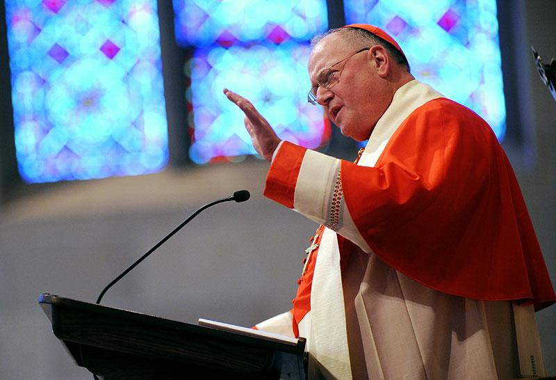Cardinal Timothy M. Dolan delivers the homily.