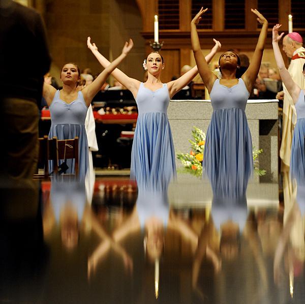 Members of the Aquinas Dance Company perform.