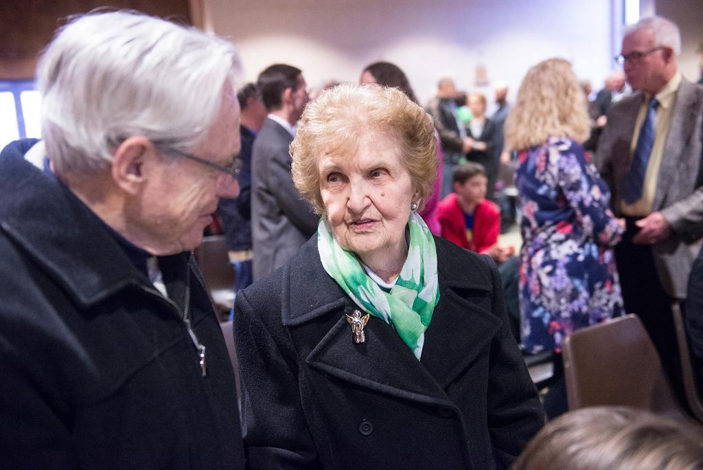 Bruce and Jane Zaepfel, who have been married for 59 years, renew their marriage vows.(Courier Photo by John Haeger)