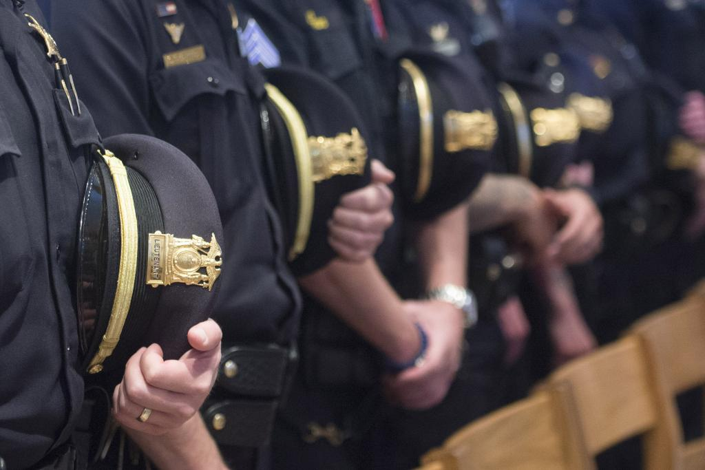 Area law enforcement personal take part in the Oct. 14 Blue Mass at Sacred Heart Cathedral.