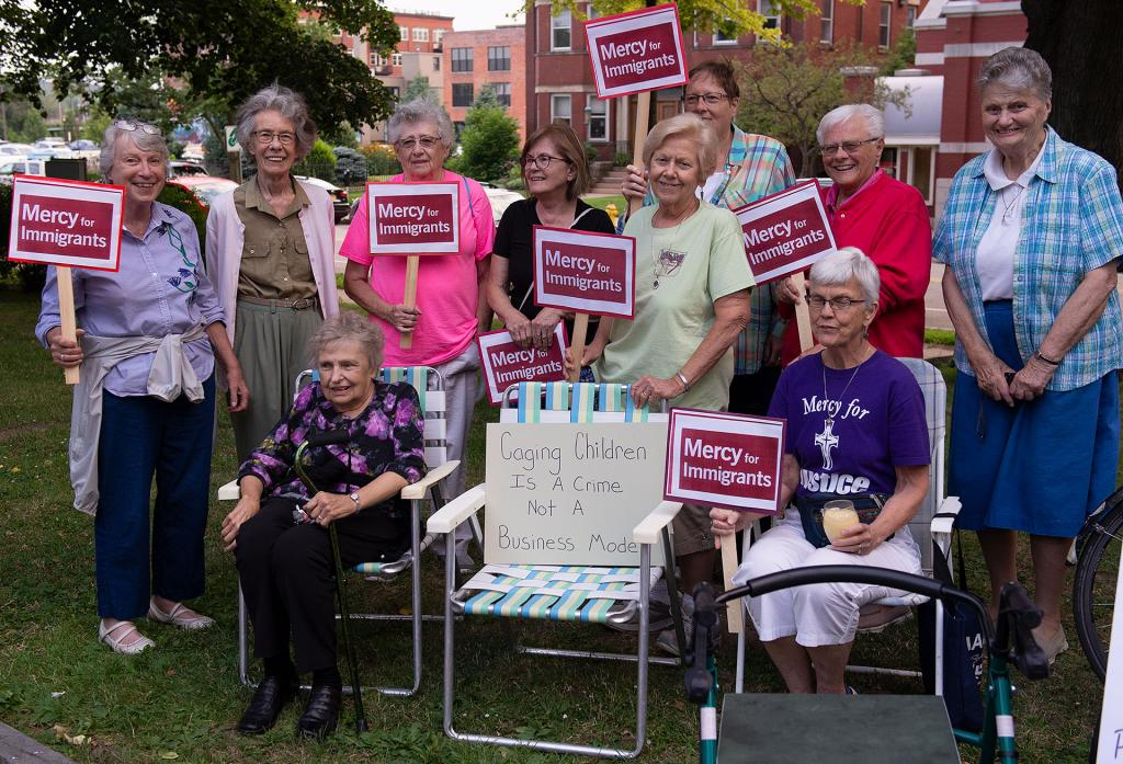 Sisters of Mercy take part in the vigil.
