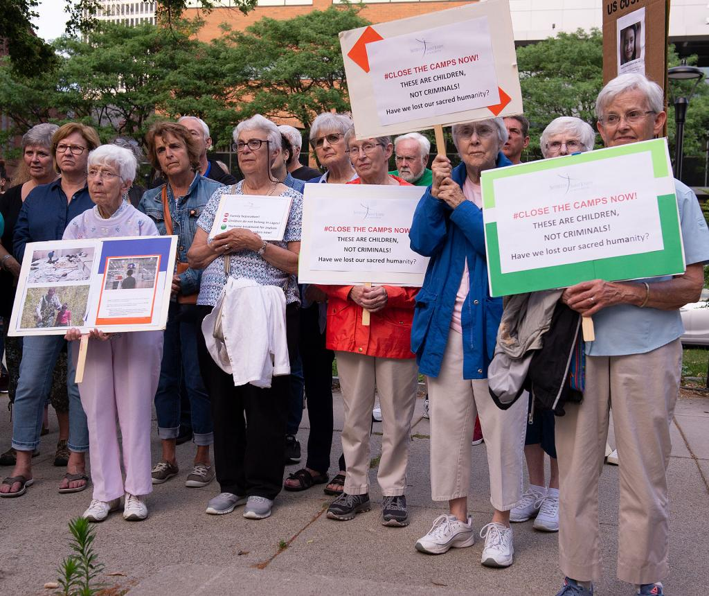Sisters of St. Joseph of Rochester take part in the vigil.