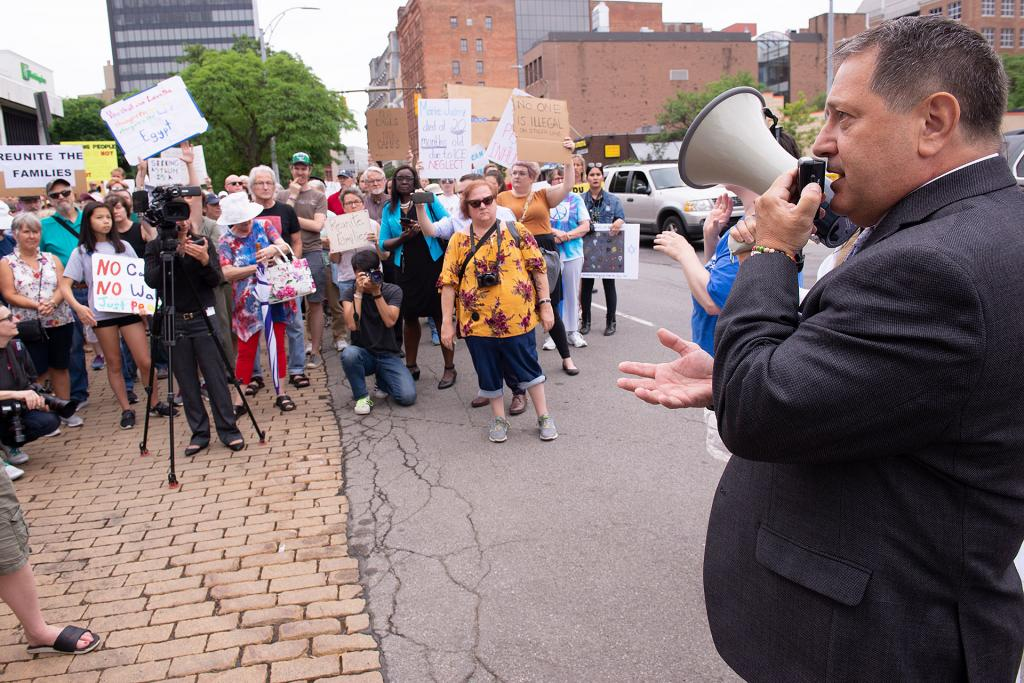 Congressman Joseph Morelle (D-NY) addresses the crowd.