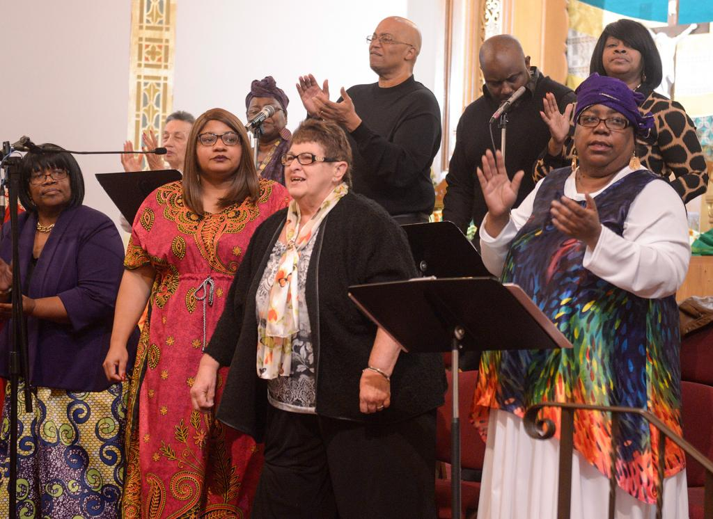 Chorus members sing during the revival. (Courier Photo by John Haeger)
