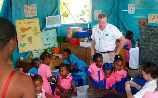 <p> Deacon Kevin Carges visits the original High House Basic School in McCook's Pen, St. Catherine, Jamaica in 2013. (File photo)</p>