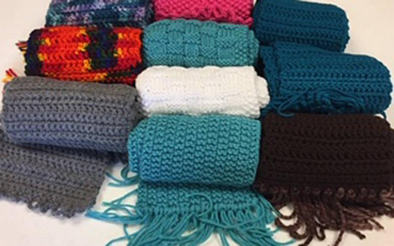<p>Blankets are just some of the knitted and crocheted items made by members of the Eucharia Ministry at St. Christopher Parish in North Chili. (Photo courtesy of Sheila Wimer)  </p>