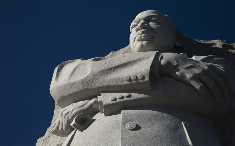 <p>The Martin Luther King Jr. Memorial is seen in Washington Jan. 17, 2020. (CNS photo by Tyler Orsburn)  </p>