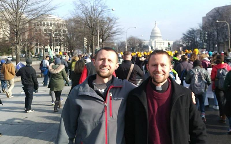 <p>Ben and Luke Daghir are seen in Washington in this undated photo. The twins are students St. Mary&rsquo;s Seminary and University in Baltimore and will be ordained for the Diocese of Erie, Pa., in 2022 and 2024, respectively. Ben was ordained a transitional deacon in May 2021, and Luke will be ordained a transitional deacon in 2023. (CNS photo courtesy The Tucker Group)  </p>