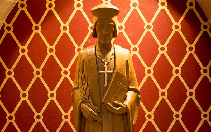 <p>This statue of St. John Fisher is located inside Sacred Heart Cathedral in Rochester. (Courier file photo)  </p>