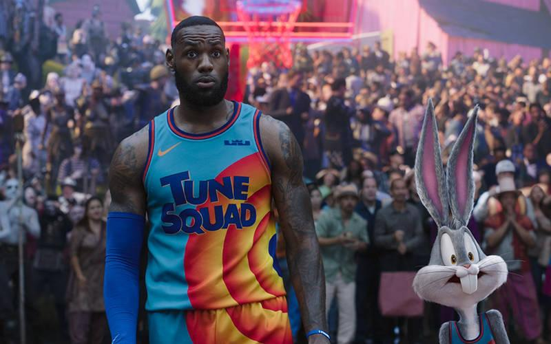 <p>Lebron James and Bugs Bunny star in a scene from the animated and live-action movie &ldquo;Space Jam: A New Legacy.&rdquo; The Catholic News Service classification is A-II &mdash; adults and adolescents. The Motion Picture Association of America rating is PG &mdash; parental guidance suggested. Some material may not be suitable for children. (CNS photo by Warner Bros. Pictures)  </p>