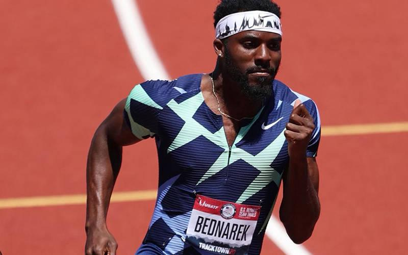 <p>Kenny Bednarek, from Rice Lake, Wis., will compete in two Olympic events in Tokyo, the 200-meter sprint and the 4x100-meter relay. The Tokyo Olympics begin July 23, 2021. (CNS photo by Handout, courtesy Superior Catholic Herald)  </p>