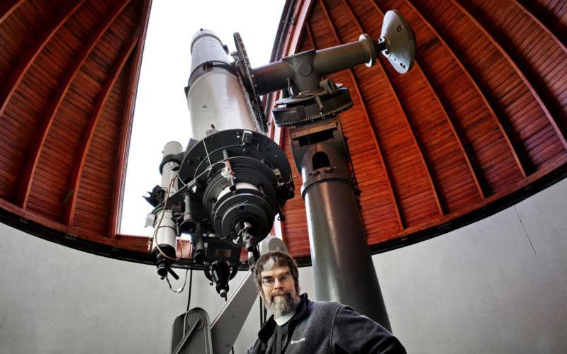 U.S. Jesuit Brother Guy Consolmagno, director of the Vatican Observatory, is pictured at the observatory in Rome. Science and religion are not seen by the church as opposing forces, but distinct and valuable approaches to understanding the universe and our place in it. (CNS photo by Annette Schreyer)