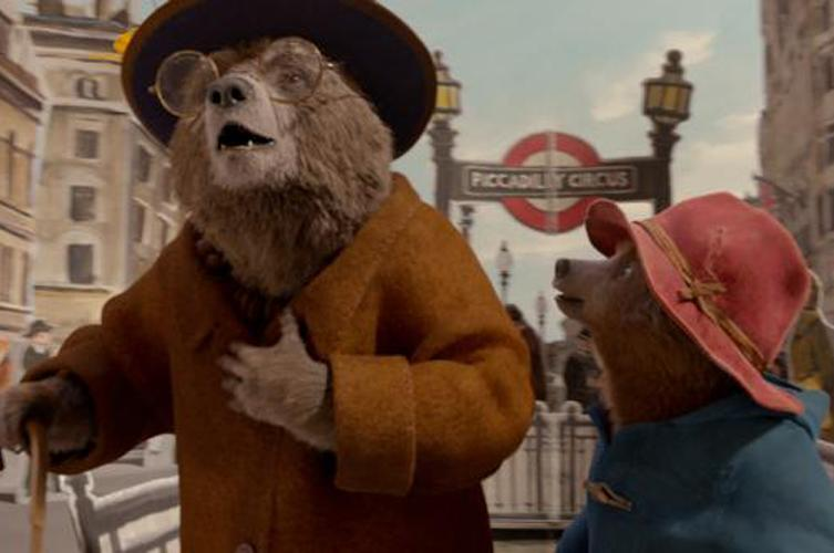 """Animated characters Aunt Lucy, voiced by Imelda Statunton and Paddington, voiced by Ben Whishaw, appear in the movie """"Paddington 2. (CNS photo by Warner Bros.)"""