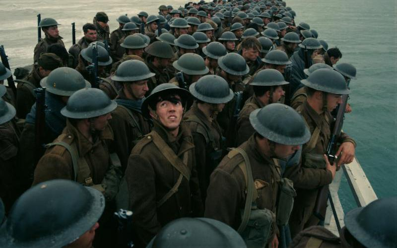 "Soldiers are shown in a scene from the movie ""Dunkirk."" (CNS photo by Warner Bros.)"
