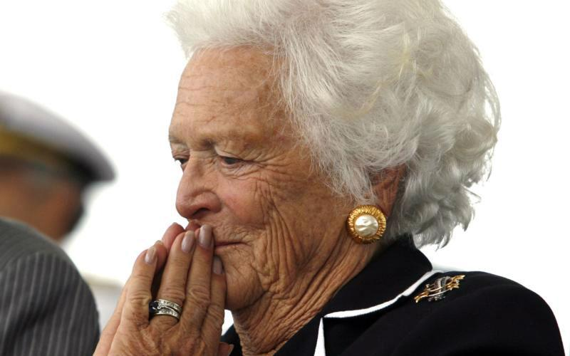 Former first lady Barbara Bush, the wife of one U.S. president and the mother of another, died April 17 at age 92 at her home in Houston. She is pictured in a 2006 photo. (CNS photo by Kevin Lamarque/Reuters)