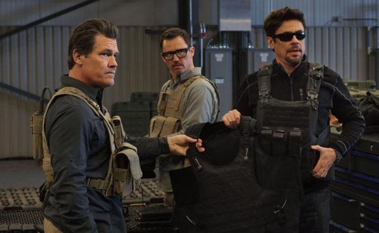 "Josh Brolin, Jeffrey Donovan and Benicio Del Toro star in a scene from the movie ""Sicario: Day of the Soldado."" (CNS photo by Lionsgate)"