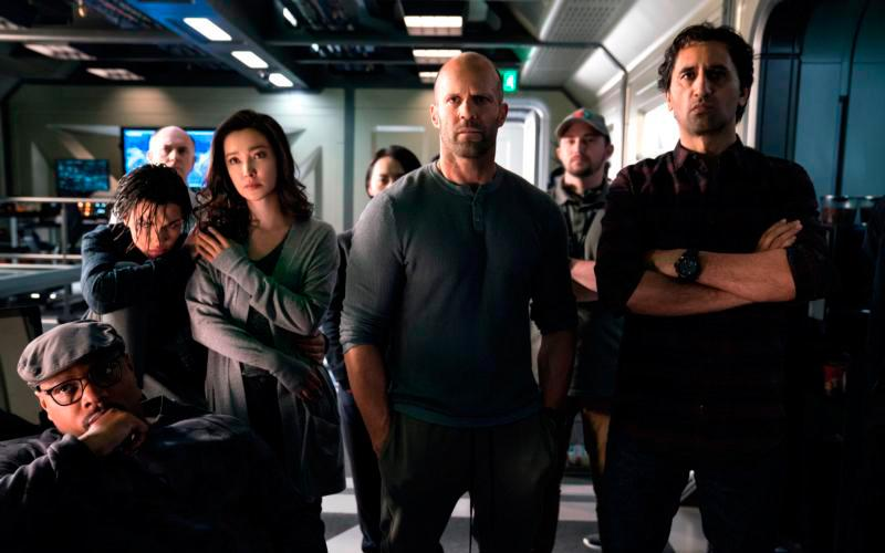 """Page Kennedy, Ruby Rose, Li Bingbing, Jason Statham and Cliff Curtis star in a scene form the movie """"The Meg."""" The Catholic News Service classification is A-III -- adults. The Motion Picture Association of America rating is PG-13 -- parents strongly cautioned. Some material may be inappropriate for children under 13. (CNS photo by Warner Bros.)"""