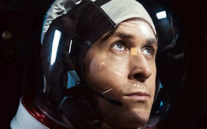 "Ryan Gosling stars in a scene from the movie ""First Man."" (CNS photo by Universal)"