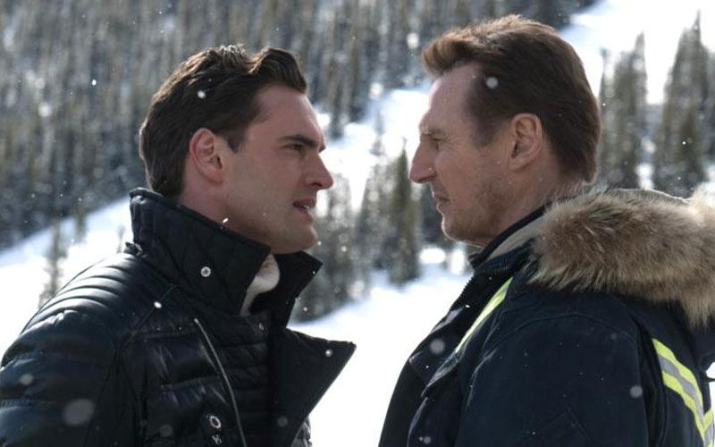 "Tom Bateman and Liam Neeson star in a scene from the movie ""Cold Pursuit."" (CNS photo by Lionsgate)"