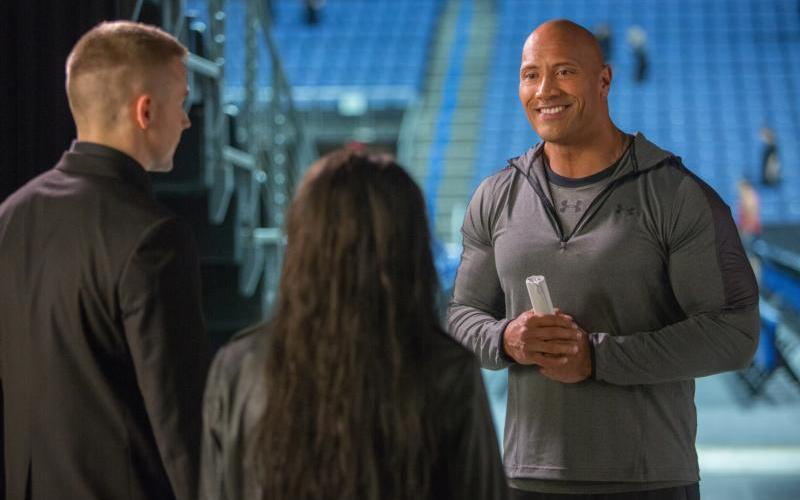 """Dwayne Johnson stars in a scene from the movie """"Fighting With My Family."""" (CNS photo by MGM)"""
