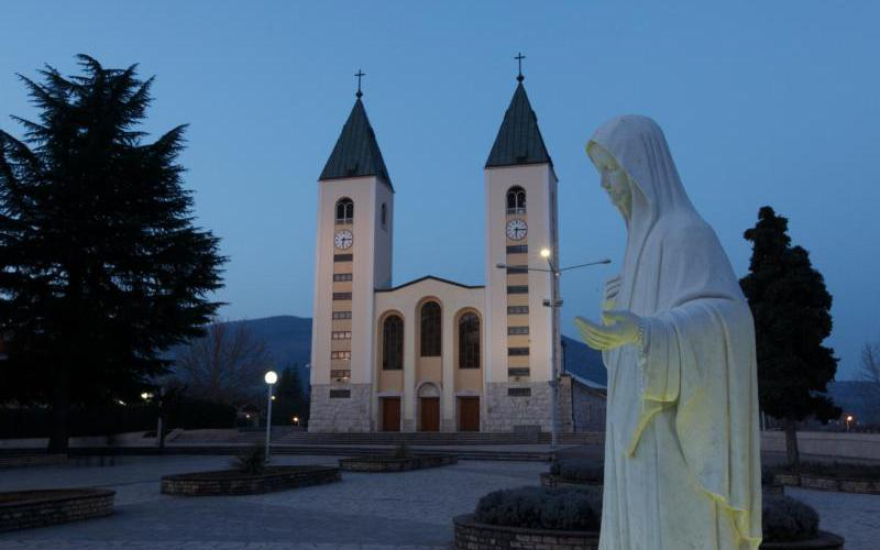 A statue of Mary is seen outside St. James Church in Medjugorje, Bosnia-Herzegovina, in this Feb. 27, 2011, file photo. (CNS photo by Paul Haring)