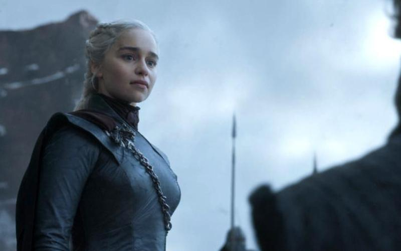 """Emilia Clarke stars in a scene from the final episode of the HBO series """"Game of Thrones."""" (CNS photo by HBO)"""