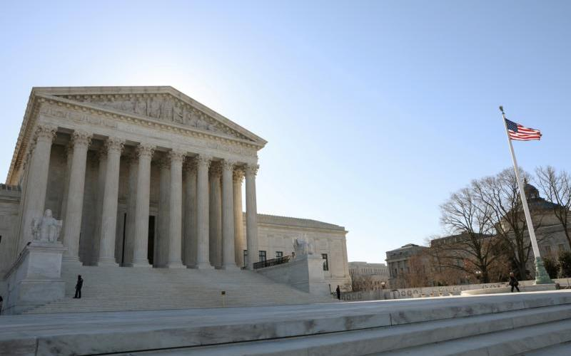 The U.S. Supreme Court building is seen in Washington March 26, 2019. (CNS photo by Brendan McDermid/Reuters)