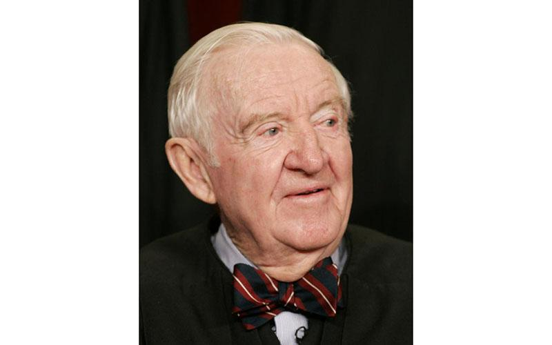 Retired Supreme Court Justice John Paul Stevens pictured in a March 3, 2006, photo. (CNS photo by Larry Downing/Reuters)