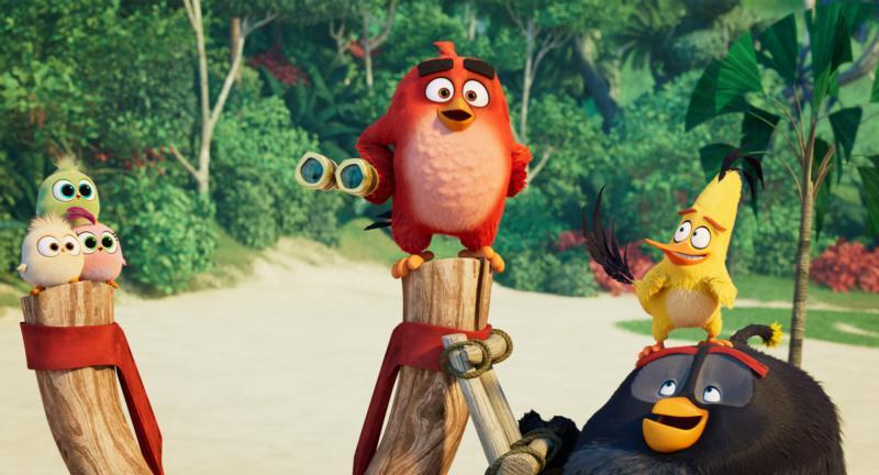 """Animated characters Red, voiced by Jason Sudeikis, Chuck, voiced by Josh Gad, and Bomb, voiced by Danny McBride, appear in """"The Angry Birds Movie 2."""" (CNS picture by Sony)"""