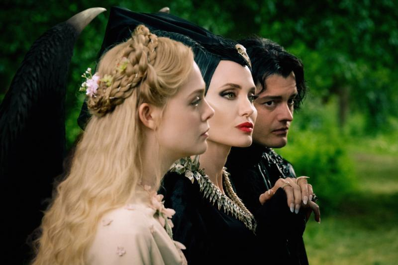 "Elle Fanning, Angelina Jolie and Sam Riley star in a scene from the movie ""Maleficent: Mistress of Evil."""