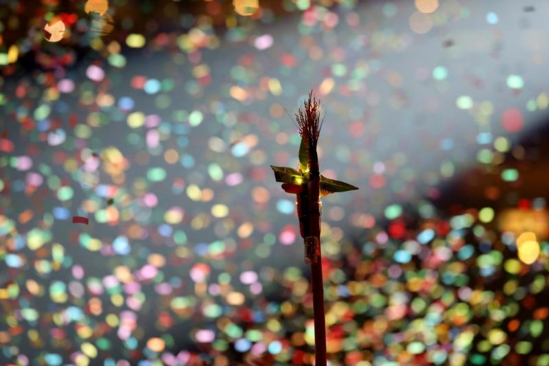 Confetti falls following the King & Country concert Nov. 21, 2019, at the National Catholic Youth Conference in Indianapolis.