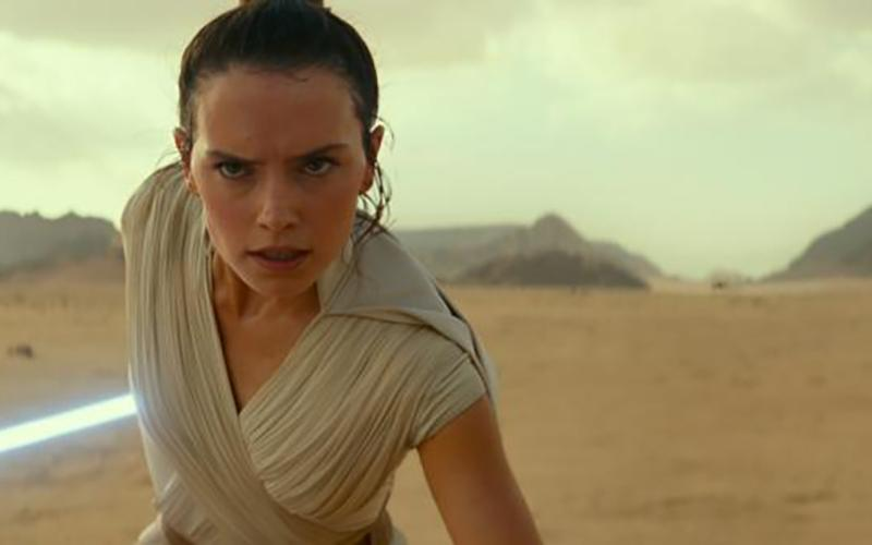 "Daisy Ridley stars in the movie ""Star Wars: The Rise of Skywalker."""