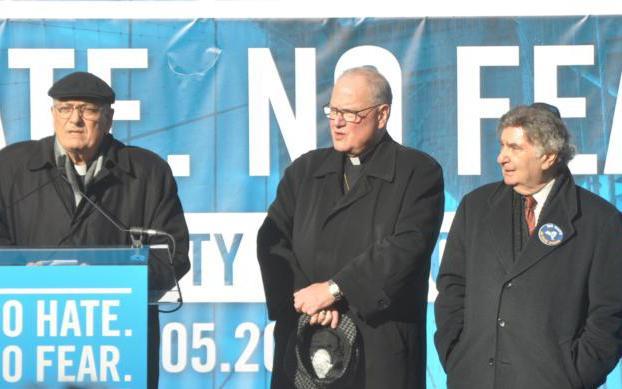 Bishop Nicholas DiMarzio of Brooklyn, N.Y., Cardinal Timothy M. Dolan, and Rabbi Joseph Potasnik.