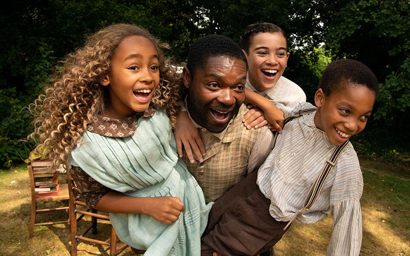 """Keira Chansa, David Oyelowo, Reece Yates and Jordan A. Nash star in a scene from the movie """"Come Away."""""""
