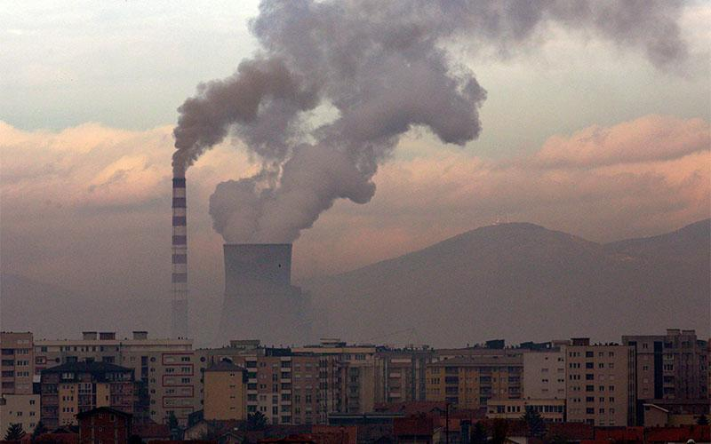 Smoke rises from a coal-fired power plant in Obilic, Kosovo, Nov. 18, 2019. Catholic leaders welcomed U.S. President Joe Biden's Jan. 20, 2021, announcement the U.S. would rejoin the Paris climate agreement.