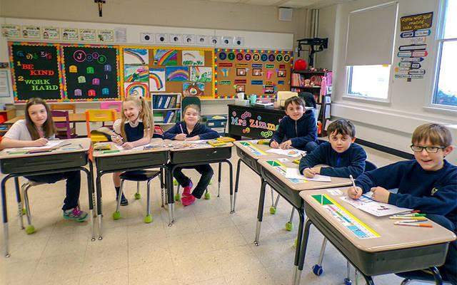 <p>Students at St. Michael School in Penn Yan write letters to the elderly, homebound and nursing-home residents in their community.  </p>